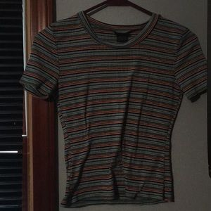 Multi colored stripped t-shirt